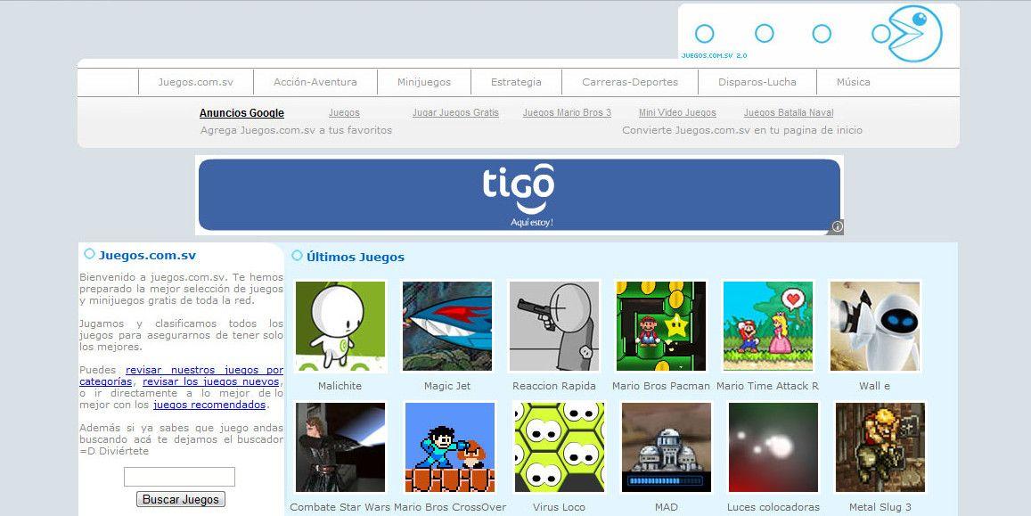 Juegos.com.sv screenshot