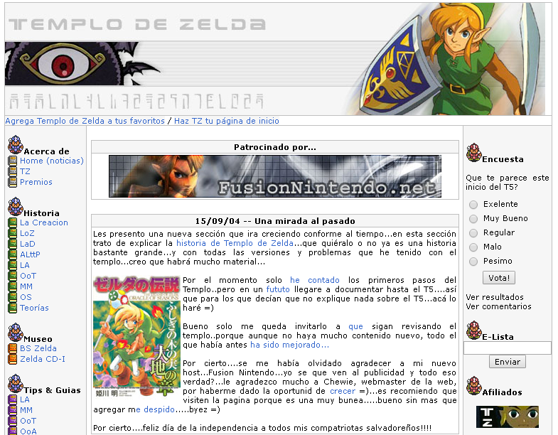 Templo de zelda (last version) screenshoot.